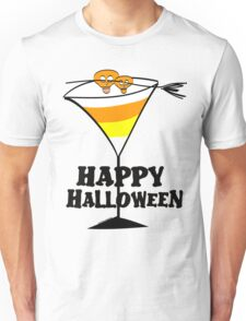 Halloween Candy Corn Martini Unisex T-Shirt