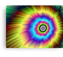 Color Explosion Tie-Dyed Canvas Print