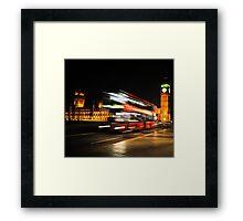 Westminster Bus Framed Print