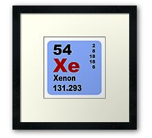 Xenon Periodic Table of Elements Framed Print