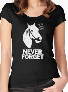 NEVER FORGET - Artax and the Swamps of Sadness Women's Fitted Scoop T-Shirt