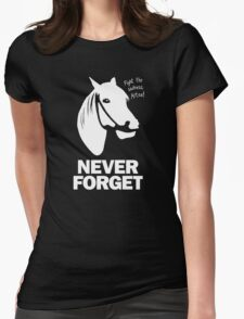 NEVER FORGET - Artax and the Swamps of Sadness Womens Fitted T-Shirt