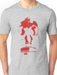gasmask stencil red reversed Unisex T-Shirt