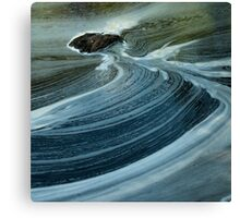 swirls below silverbridge - scotland Canvas Print