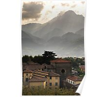 Town of Barga, Tuscany Poster