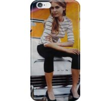 Girl on Yellow Planet iPhone Case/Skin