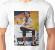 Girl on Yellow Planet Unisex T-Shirt