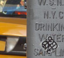 W.S.N.Y N.Y.C Drinking Water Sampling Station Sticker