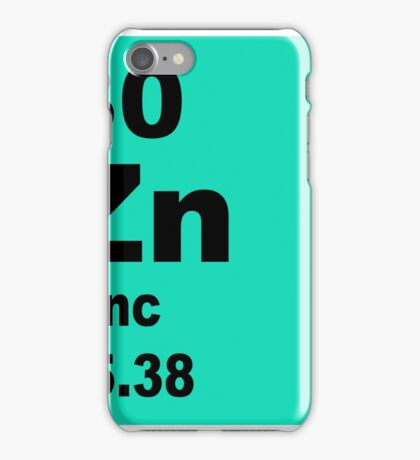 Zinc Periodic Table of Elements iPhone Case/Skin