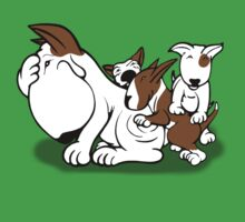 Bull Terrier Puppies with Mum One Piece - Short Sleeve