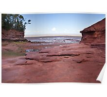 Low tide at Burntcoat Point Park - Bay of Fundy Poster