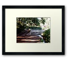The Packhorse Bridge at Allerford, Dunster, West Somerset Framed Print