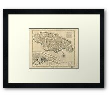 Old Map of Jamaica (1770) Framed Print