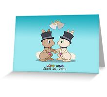 #LoveWins (or Skip & Pip celebrate Marriage Equality) Greeting Card