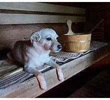 Sauna girl Photographic Print