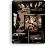Old workplace. Canvas Print