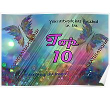 Rainbow banner challenge Poster