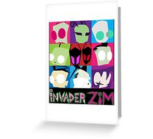 Invader Zim Collection Greeting Card