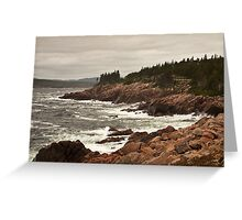 Raging wind and sea at Neil's Harbor, Cape Breton Greeting Card