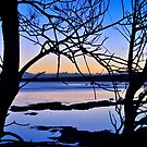 Late Afternoon on Tuggerah Lake. 5-10-2010. by Warren  Patten