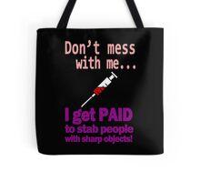 Women's funny nurse geek funny nerd Tote Bag