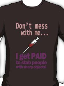 Women's funny nurse geek funny nerd T-Shirt