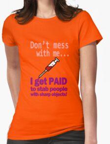 Women's funny nurse geek funny nerd Womens Fitted T-Shirt