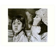 Mother and Child - Passing Through Art Print