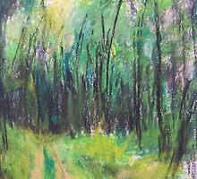 Wald (pastel) by Niki Hilsabeck