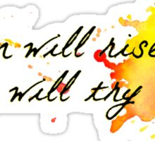 and we will try again (font 1) Sticker