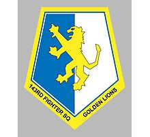 Golden Lions Squadron Logo Photographic Print