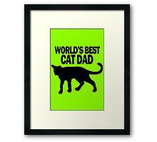 Worlds best cat dad funny geek funny nerd Framed Print