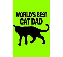 Worlds best cat dad funny geek funny nerd Photographic Print