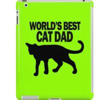 Worlds best cat dad funny geek funny nerd iPad Case/Skin