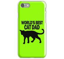 Worlds best cat dad funny geek funny nerd iPhone Case/Skin