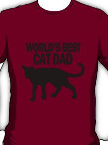 Worlds best cat dad funny geek funny nerd T-Shirt