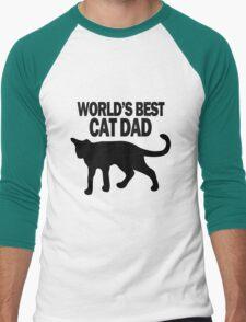 Worlds best cat dad funny geek funny nerd Men's Baseball ¾ T-Shirt
