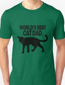 Worlds best cat dad funny geek funny nerd Unisex T-Shirt
