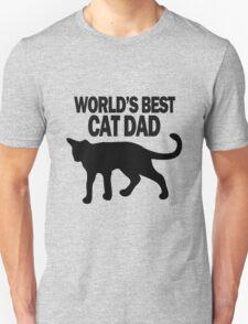 Worlds best cat dad funny geek funny nerd Unisex T-Shirt