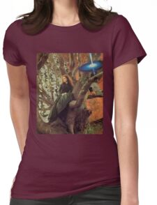 Woman in Tree Womens Fitted T-Shirt