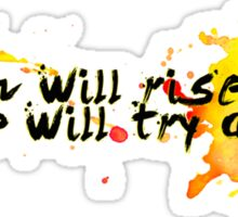 and we will try again (font 2) Sticker