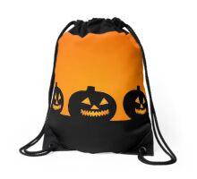 Pumpkin Silhouettes Drawstring Bag