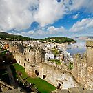 Comway Castle from one of the towers by Mark Dobson
