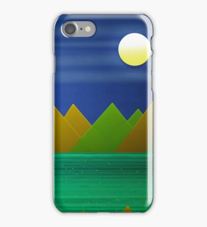 Night Mountains Landscape iPhone Case/Skin