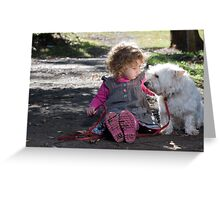 Child and her Dog Greeting Card