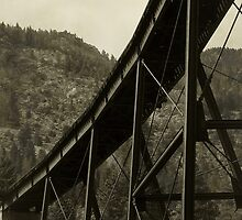 Curved Span on the Georgetown Loop by RC deWinter