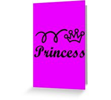 Yellow princess crown baby jumpsuit for cute girl geek funny nerd Greeting Card