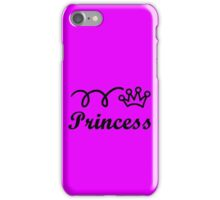 Yellow princess crown baby jumpsuit for cute girl geek funny nerd iPhone Case/Skin