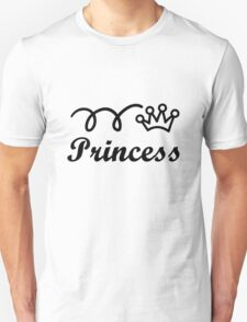 Yellow princess crown baby jumpsuit for cute girl geek funny nerd T-Shirt