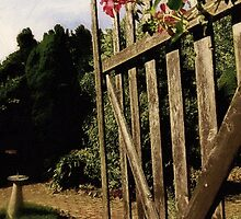 Garden Gate Welcome by RC deWinter